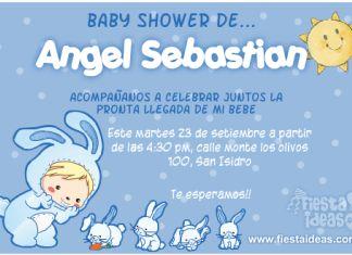 invitaciones de baby shower con conejitos