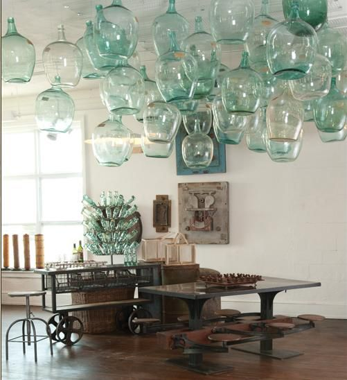 Bottles on the ceiling? Why not? ok i know these are not Ball