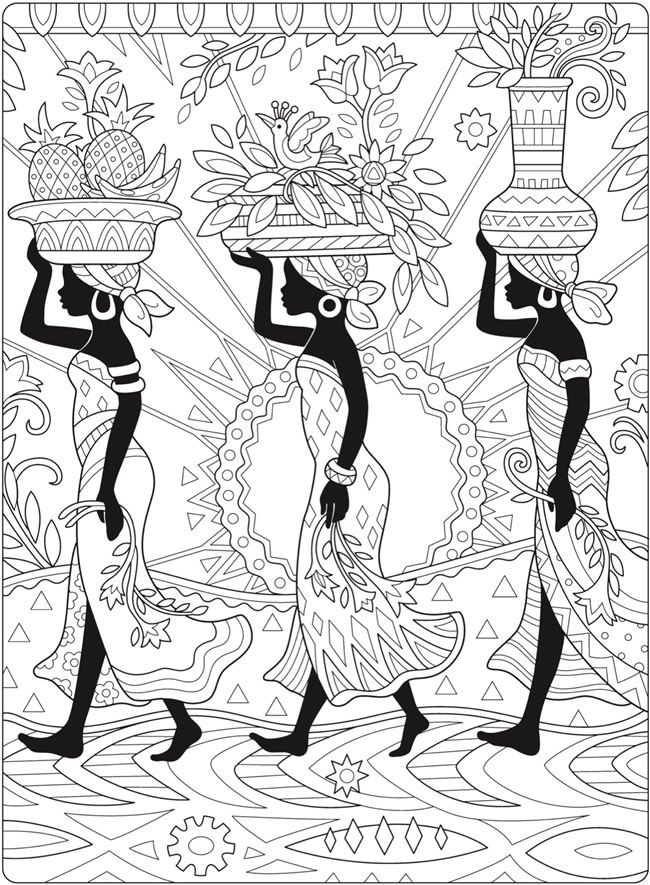 Welcome To Dover Publications African Paintings African Art Paintings Art Projects For Adults
