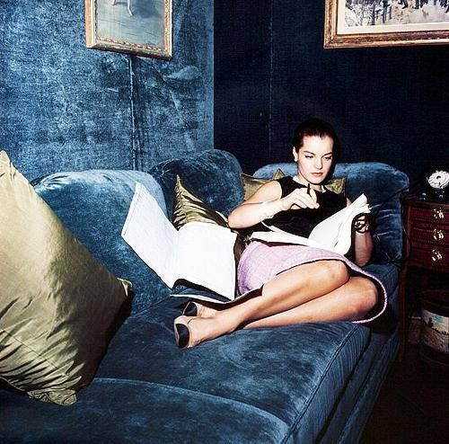 Romy Schneider in Coco Chanel's apartment