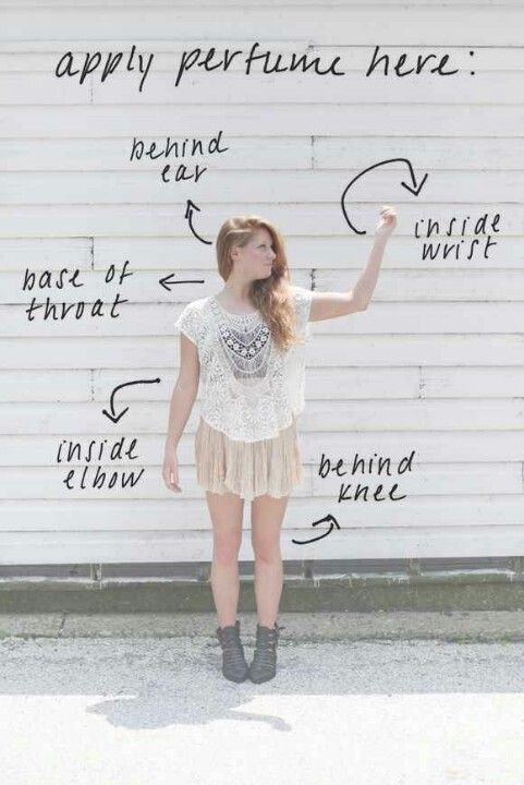 Where to spray perfume. Don't forget about your hair ;) #hairperfume www.baithairperfume.com