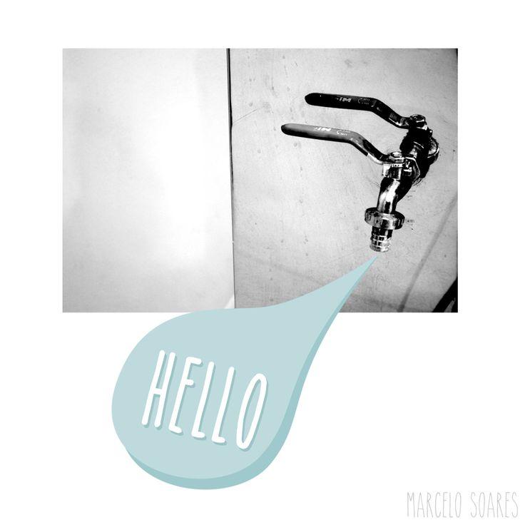 Hello - picture plus illustration