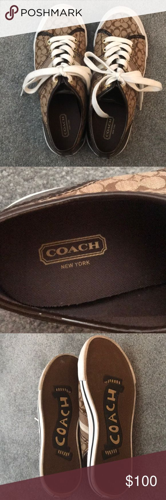 COACH SNEAKERS Like new coach sneakers! Signs of wear are shown. Very lightweight and comfortable! Coach Shoes Sneakers