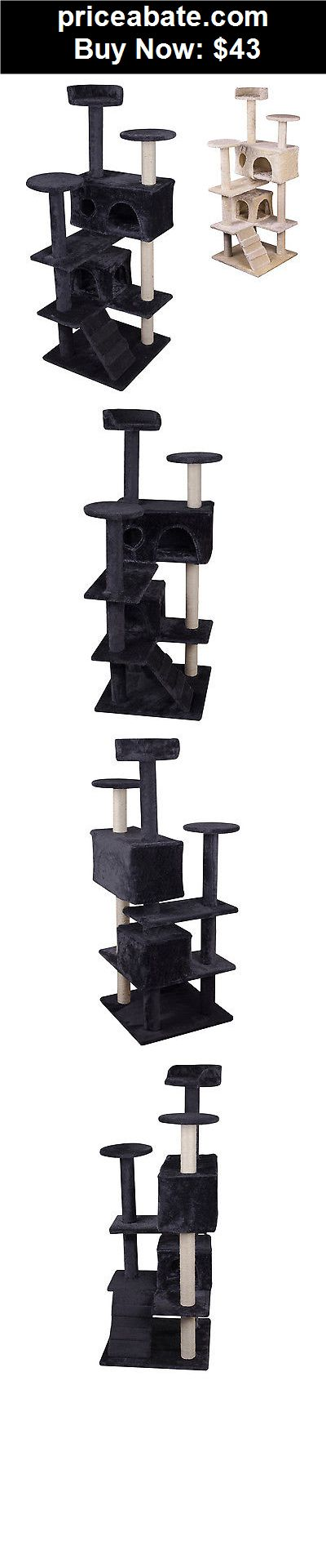 "Animals-Cats: New 51"" Cat Tree Condo Furniture Scratcher Post Play Toy Pet House Kitten Tower  - BUY IT NOW ONLY $43"