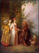 Le diseuse de bonne aventure, 1710