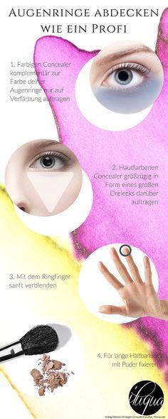 Lerne deine Augenringe abzudecken wie ein Profi, welche Concealerfarben deine Verfärbung perfekt neutralisiert und welche Technik notwendig ist für ein makelloses Ergebnis!