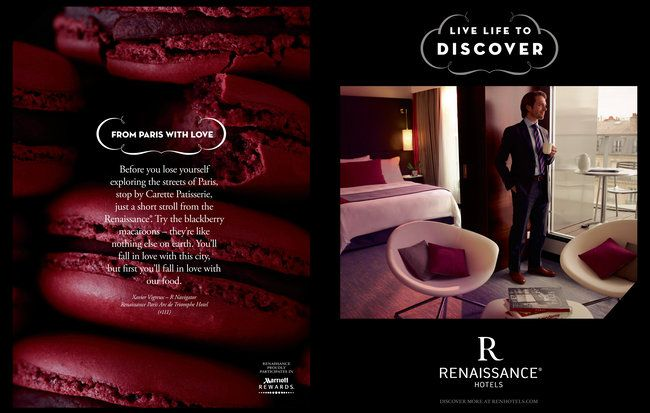"Renaissance Hotels new ""Live Life to Discover"" ad campaign! Love the new ads..."