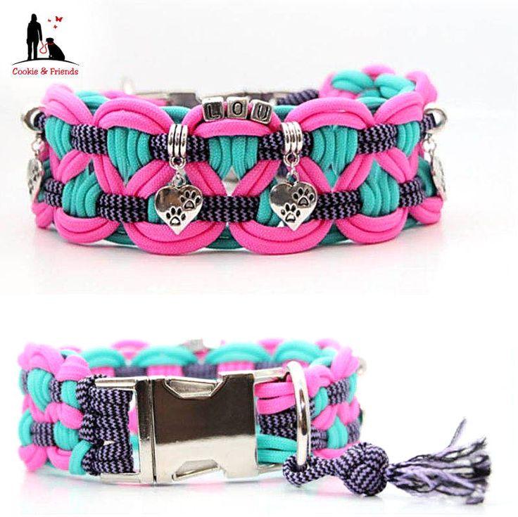 Wunderschöne Paracord Hundehalsbänder und Leinen individuell gestalten, Hundehalsbänder und Leinen aus Paracord direkt vom Hersteller