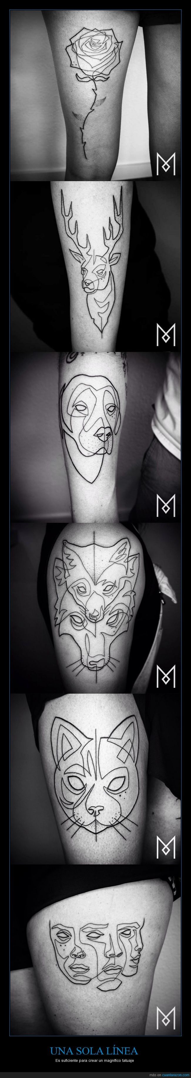 Estos tatuajes son una sola línea... Para FLI-PAR :O - Es suficiente para crear un magnífico tatuaje