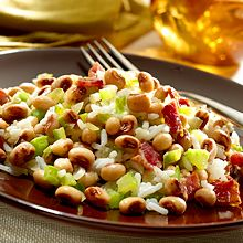 Hoppin' John with Black Eyed Peas Promises Good Luck and Great Flavor! Try our quick and easy rendition of this recipe. It's rice & easy!