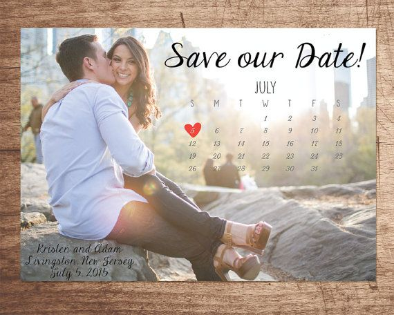 Photo Calendar Save our Date DIGITAL FILE by InvitesByAllie