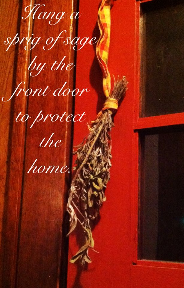 Witchy Tip of the Day Hang a sprig of sage by the front door to protect the home.