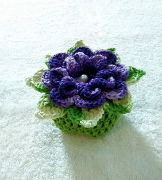 Peso de Porta em Crochê Flores de Jardim                                                                                                                                                                                 Mais