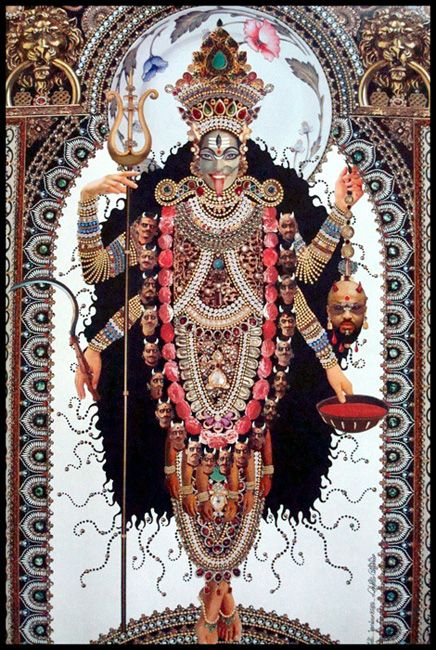 Kali by Roberto Custodio--Mother Kali, goddess of time/change/death