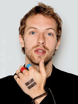 Chris Martin and his amazing blue eyes!! Love this.