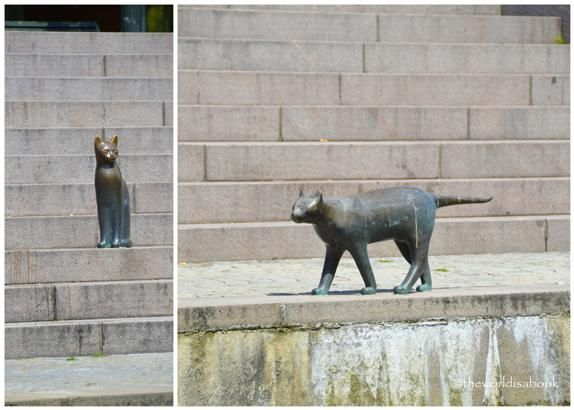 Cat statues in Malmö Sweden