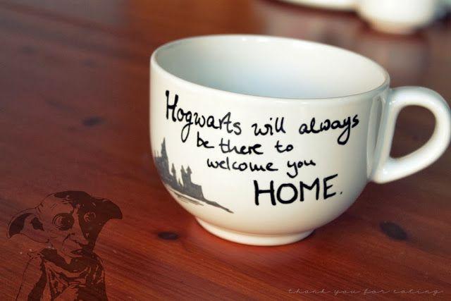 Thank you for eating.: DIY Harry Potter Mugs + Gewinner