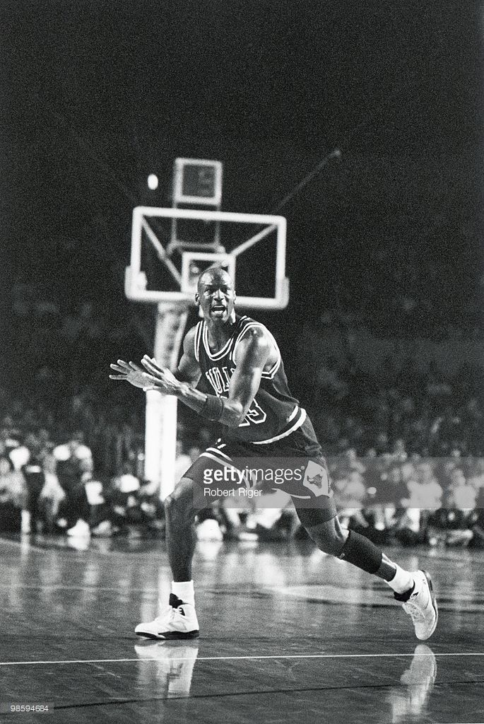 Michael Jordan #23 of the Chicago Bulls calls for the ball in an undated photo.