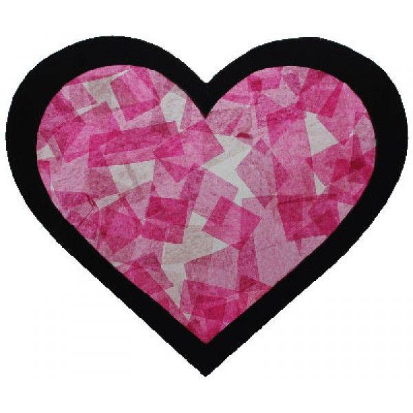 Bricolage st valentin vitrail coeur l 39 art en cours - Coeur st valentin ...