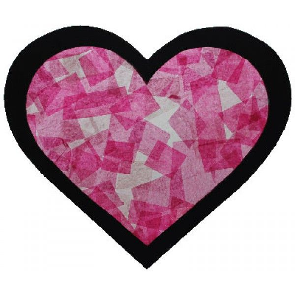 Bricolage st valentin vitrail coeur l 39 art en cours for Decoration vitrine saint valentin