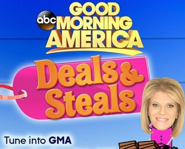 Today's GMA Deals and Steals 2/12/15 show featured big discounts on hot items. To get these secret deals just click on the link below and use the promo code.