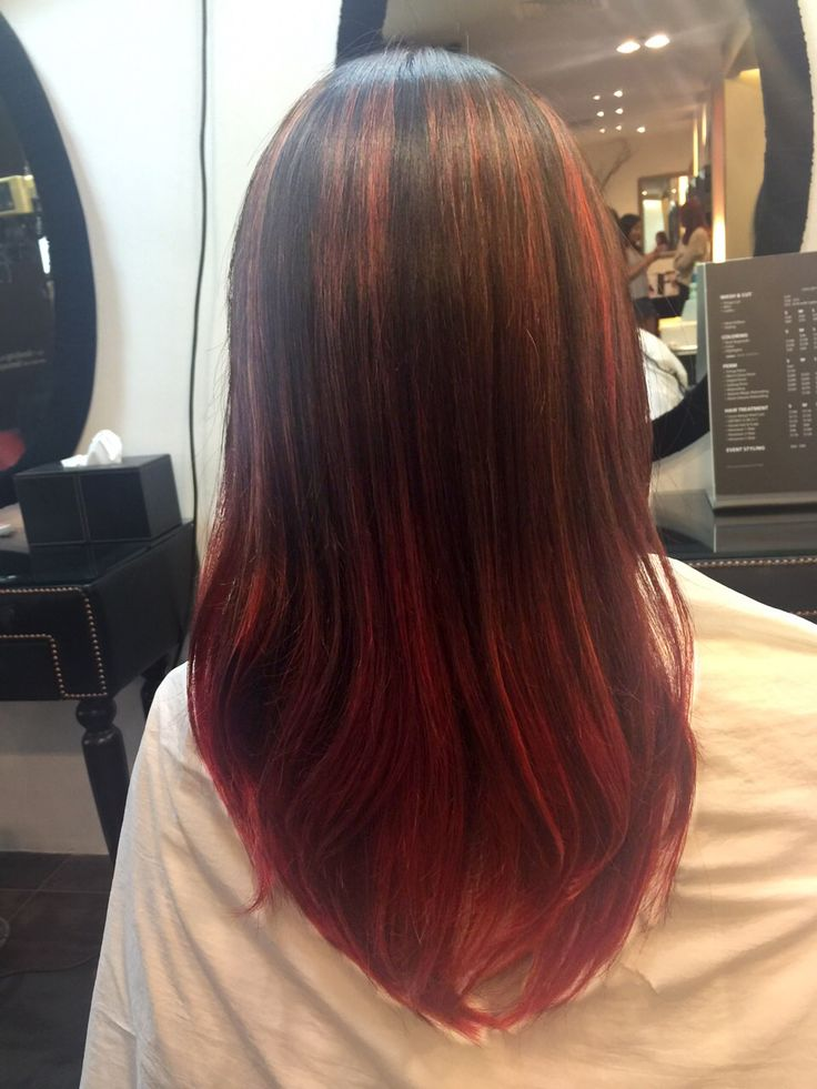 Red Ombre Amp Highlight For Spring Colors With A Sleek Look
