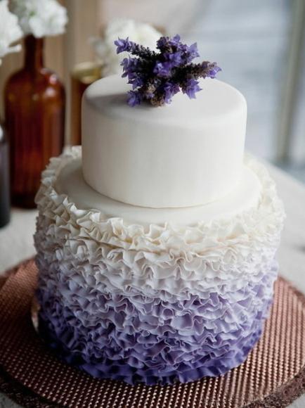 wedding cakePurple Wedding Cake, Colors, Cake Ideas, Ruffle Cake, Ombre Cake, Lavender Wedding, Wedding Cakes, Ruffles Cake, Purple Cake