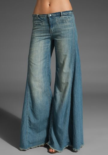 Free People Extreme Vintage Chambray Flare in Easy Rider Wash  I just peed my pants I want these sooooo bad
