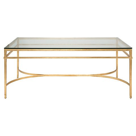 Larsen Glass Top Coffee Table, Gold $549.00