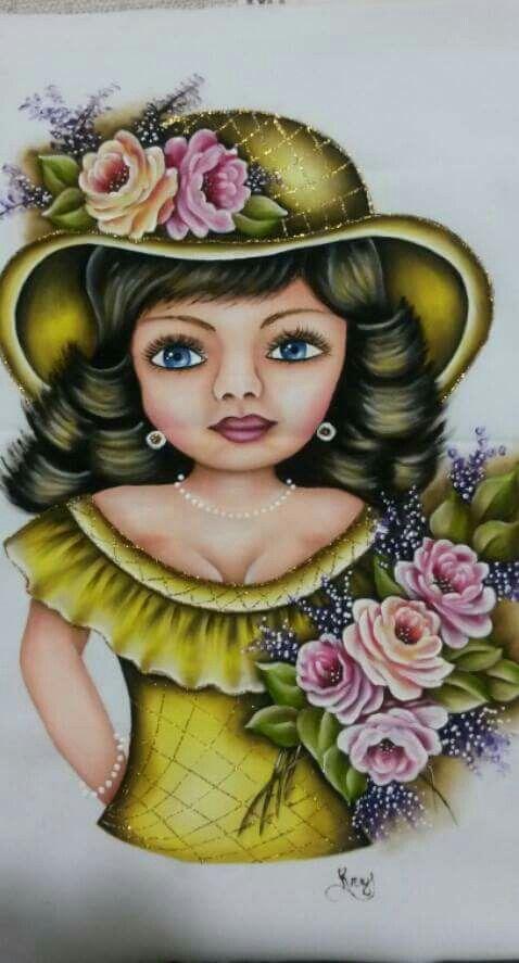 Pintura em tecido por Krys Susy
