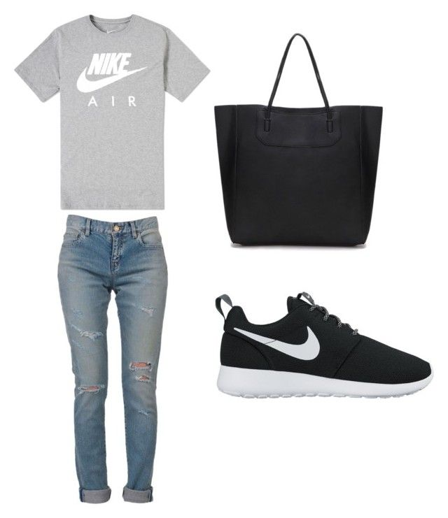 """Untitled #15"" by hongjina on Polyvore featuring NIKE and Yves Saint Laurent"