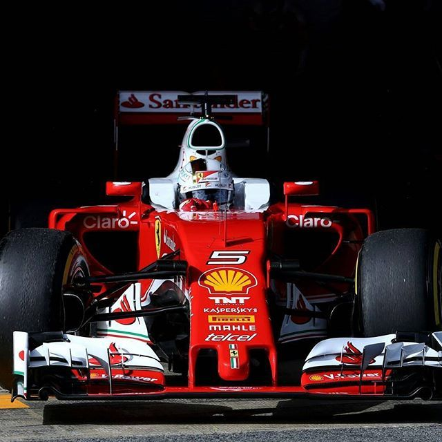 Good 2016 Barcelona F1 Test 23/2/2016 #5 Sebastian Vettel Ferrari SF16