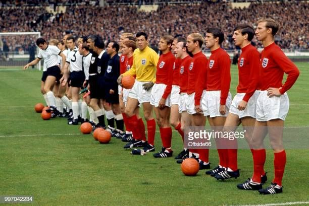The Two Teams Line Up Before The Match As England Goalkeeper Gordon England Goalkeeper Lineup