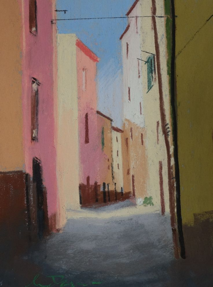 The Pink House, Bosa. Pastel