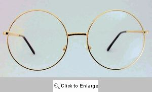 Gene Giant Round Clear Glasses - 419 Gold
