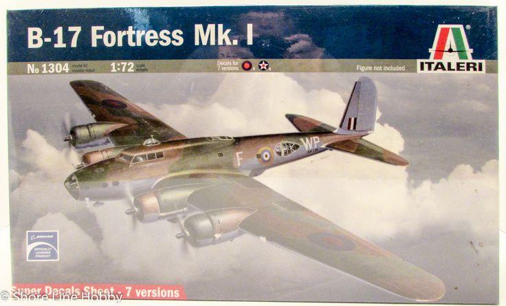 Italeri B-17 Fortress Mk. I 1304 1/72 Plastic Model Airplane Kit WWII Boeing