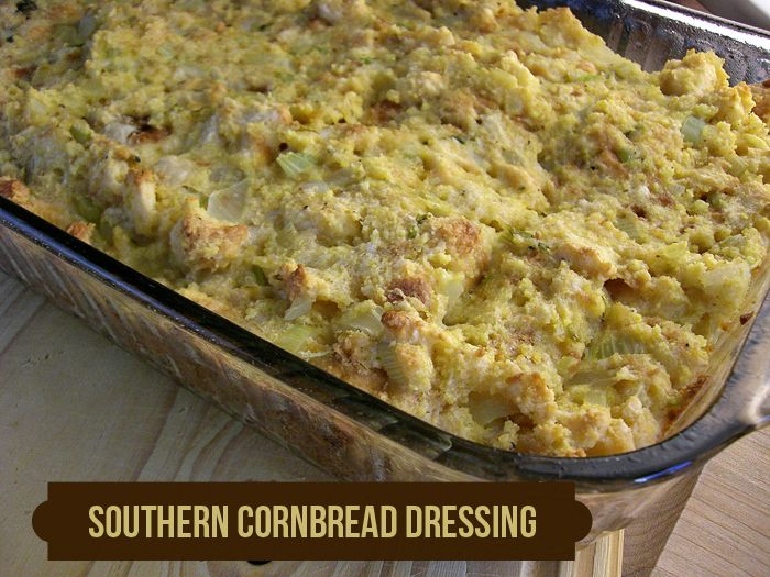 traditional southern christmas  | Southern-Style Cornbread Dressing: Traditional and a TOTAL fave!