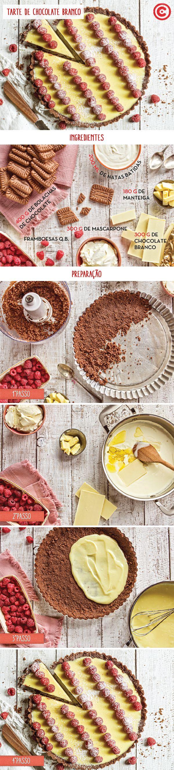 Tarte de chocolate branco | Continente Magazine - setembro 2016