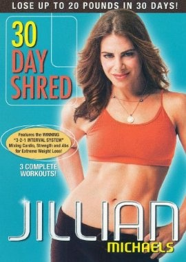 Jillian Michaels 30 Day Shred - Totally digging the mighty workout you get.  Completely doable even with the kids trying to climb on me!: 30Day, 30 Day Shredded, Work Outs, Michael 30, Workout Dvd, Jillian Michael, Jillianmichael, Weights Loss, Workout Videos