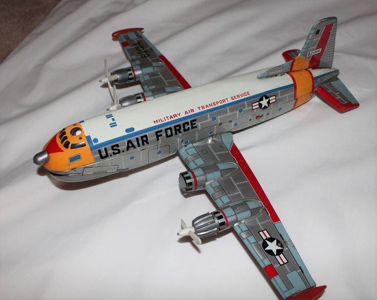 Yonezawa Tin Airplane Douglas C-124 Globemaster Japan Battery Operated Toy 1960s #AirplaneYonezawa