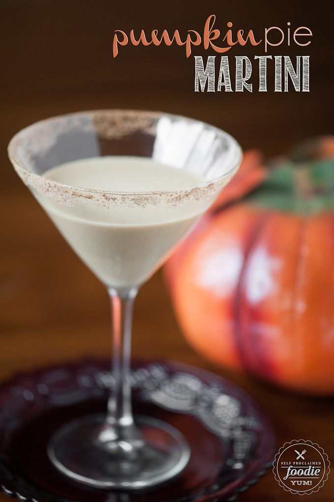 This Pumpkin Pie Martini is a perfect Fall cocktail. It is so rich and creamy that it really does taste like pumpkin pie, but with a boozy kick. {Self Proclaimed Foodie}