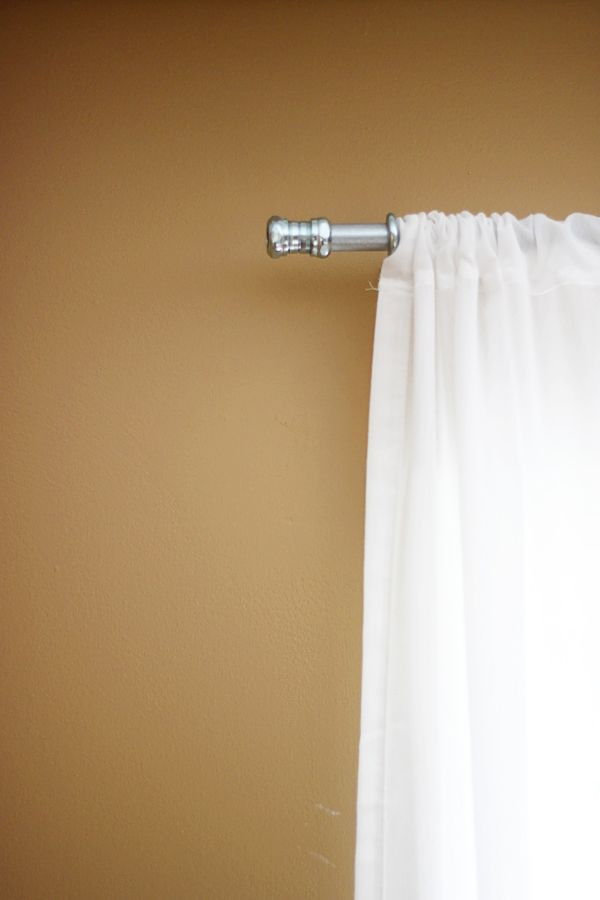 best 25 long curtain rods ideas on pinterest diy. Black Bedroom Furniture Sets. Home Design Ideas