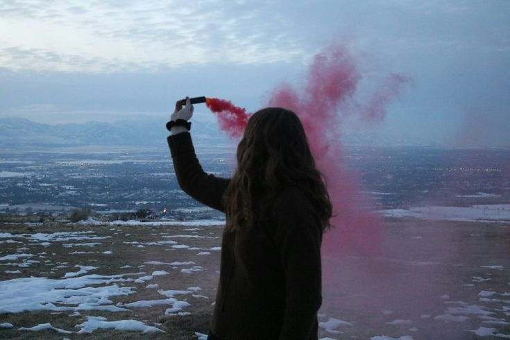Red smoke bomb Pc: Ashley Peterson  @ash_peterson pinterest @ashley.pphotography instagram