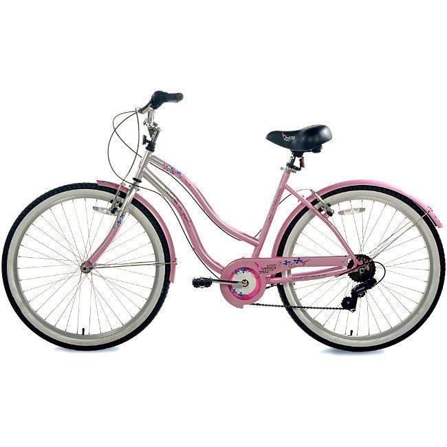 "Womens Beach Cruiser Bike 26"" Ladies Bicycle Vintage City Cycling 7 Speed Pink #cruiserbike #beachcruiser #womenscruiser #26cruiserbike"
