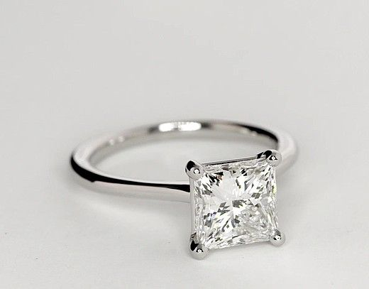 Nothing can compare, a classic princess cut in platinum. It's a classic -m  2.5 Carat Diamond Petite Solitaire Engagement Ring | Recently Purchased | Blue Nile