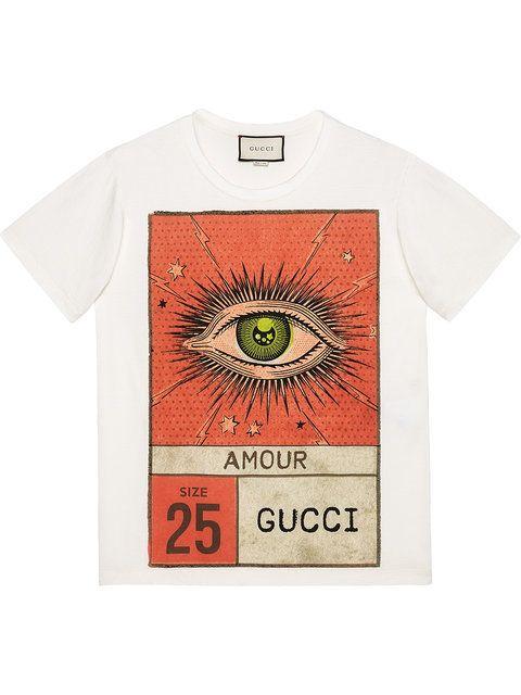 e81c4cf5 Gucci Amour eye print T-shirt   graphic tee   Mens vintage shirts ...