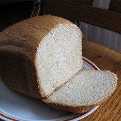 You can get a yummy loaf of gluten-free bread from your bread machine with this recipe using white and brown rice flours.