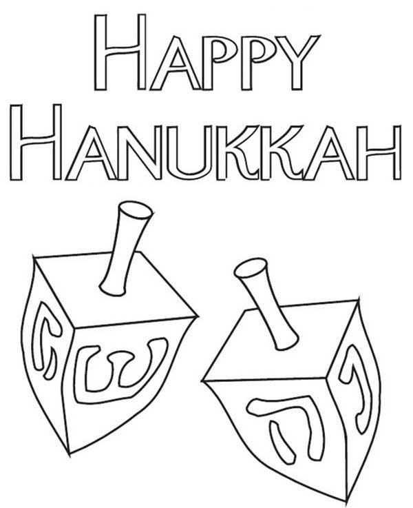 Chanukah The Chanukah Dreidels Coloring Page Coloring Pages