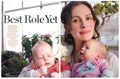 """Julia Roberts and her twins cast in the """"mommy"""" role! <3"""