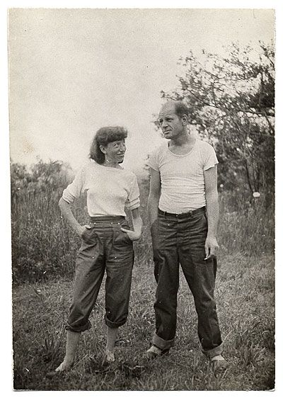 Citation: Jackson Pollock and Lee Krasner, ca. 1946 / Ronald Stein, photographer. Jackson Pollock and Lee Krasner papers, Archives of American Art, Smithsonian Institution.